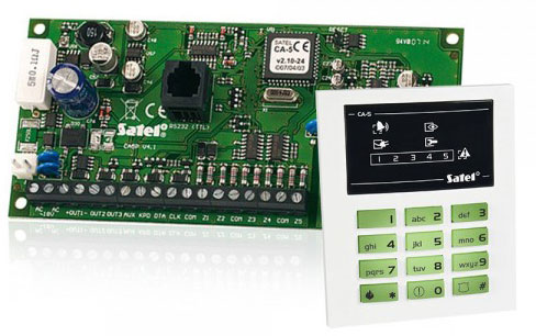 montaz systemu alarmowego Satel ca 6, instalacja satel ca6