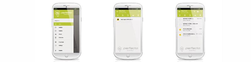 Perfecta-Control aplikacja satel