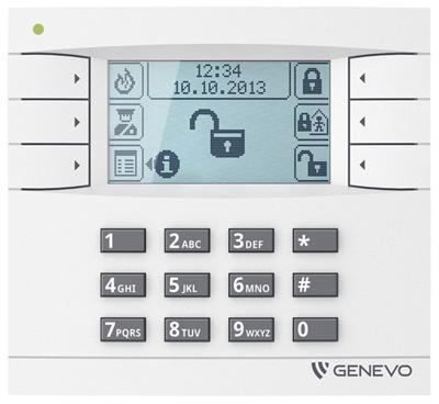 Prima-LCD Genevo prima montaż Genevo Instalacja Genevo alarm genevo