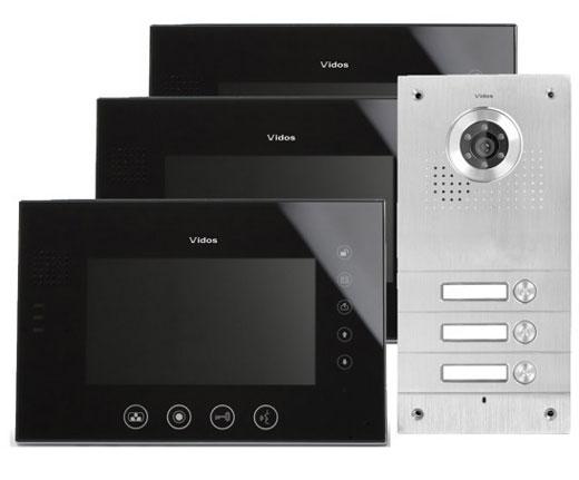 wideodomofon vidos, vidos, vidos zestaw, videodomofon,